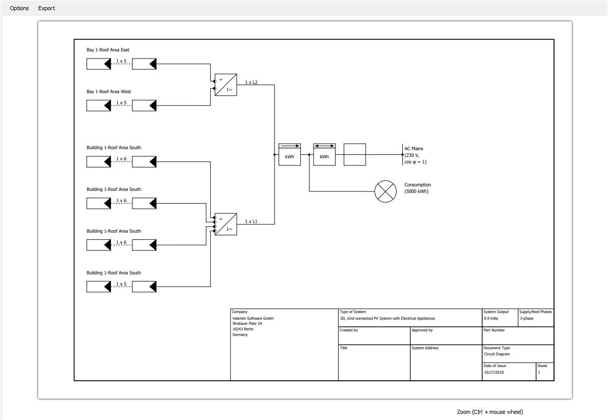 Plans Pvsol Help Software To Draw Circuit Diagram Detail View